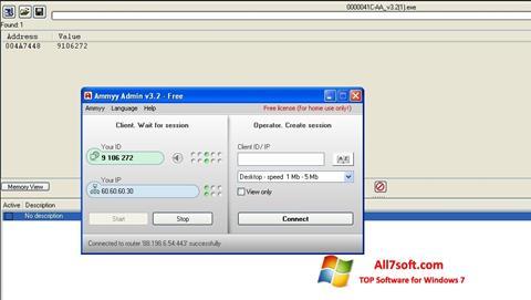 Screenshot Ammyy Admin untuk Windows 7