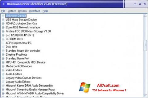 Screenshot Unknown Device Identifier untuk Windows 7