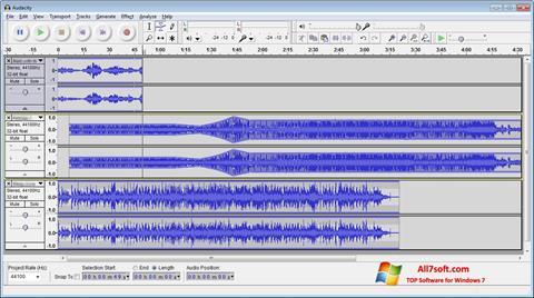 Screenshot Audacity untuk Windows 7