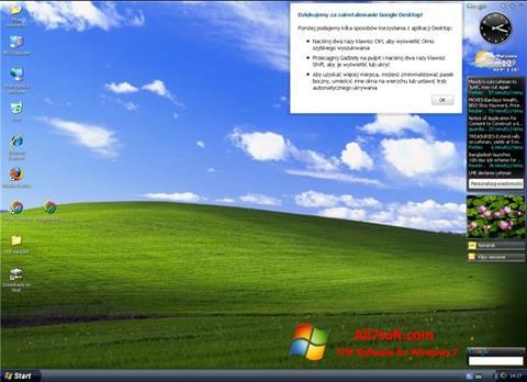 Screenshot Google Desktop untuk Windows 7