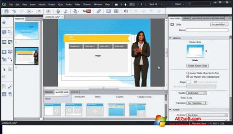 Screenshot Adobe Captivate untuk Windows 7