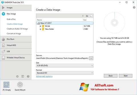 Screenshot DAEMON Tools Lite untuk Windows 7