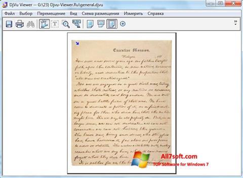 Screenshot DjVu Viewer untuk Windows 7