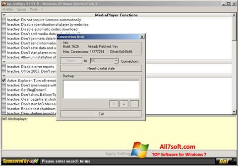 Screenshot XP-AntiSpy untuk Windows 7