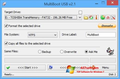 Screenshot Multi Boot USB untuk Windows 7