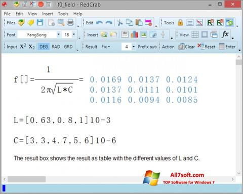 Screenshot RedCrab Calculator untuk Windows 7