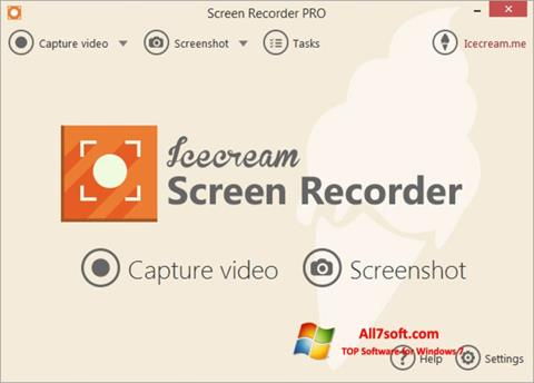 Screenshot Icecream Screen Recorder untuk Windows 7