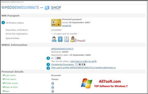Screenshot WebMoney Keeper Classic untuk Windows 7