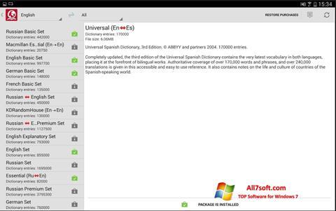 Screenshot ABBYY Lingvo untuk Windows 7