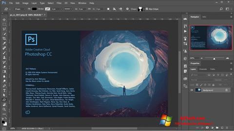 Screenshot Adobe Photoshop untuk Windows 7
