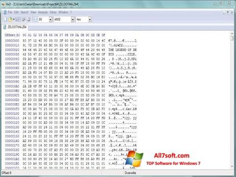 Screenshot Hex Editor untuk Windows 7