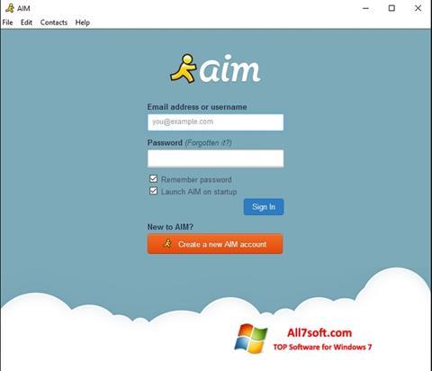 Screenshot AOL Instant Messenger untuk Windows 7