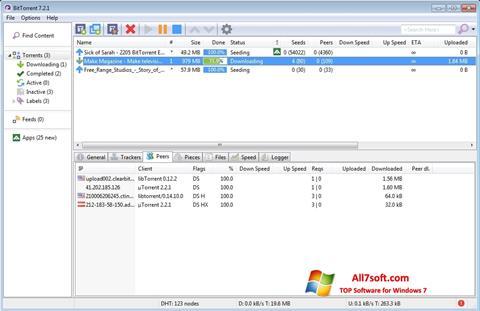 Screenshot BitTorrent untuk Windows 7