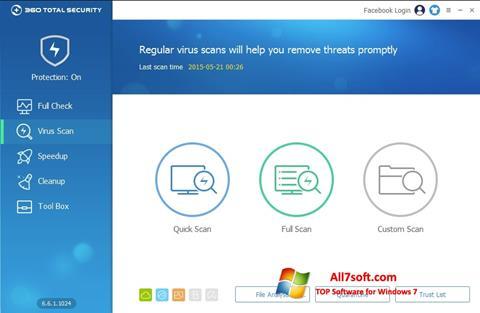 Screenshot 360 Total Security untuk Windows 7