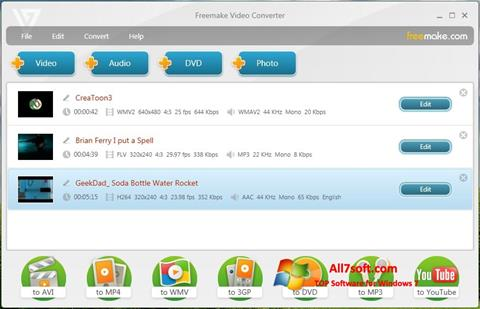 Screenshot Freemake Video Converter untuk Windows 7