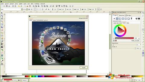 Screenshot Inkscape untuk Windows 7