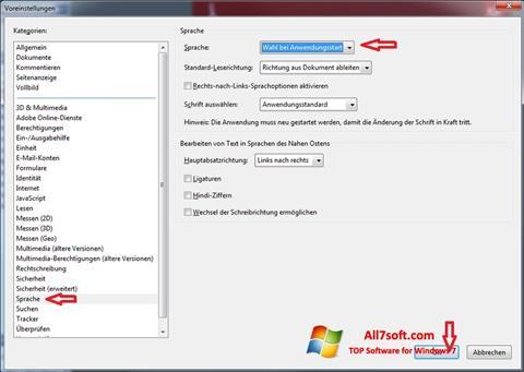 Screenshot Adobe Reader untuk Windows 7