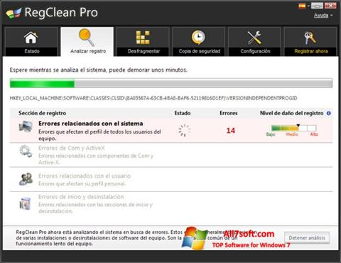 Screenshot RegClean Pro untuk Windows 7