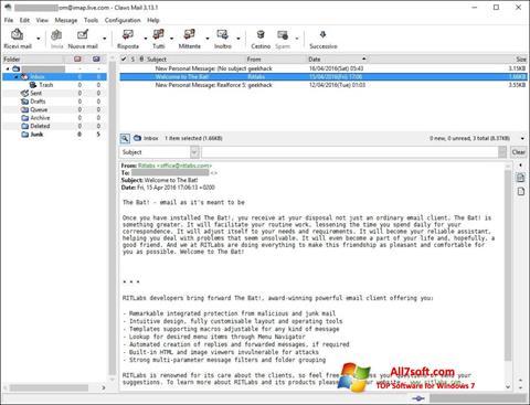 Screenshot Claws Mail untuk Windows 7