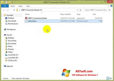 Screenshot ABBYY Screenshot Reader untuk Windows 7