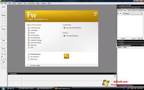 Screenshot Adobe Fireworks untuk Windows 7
