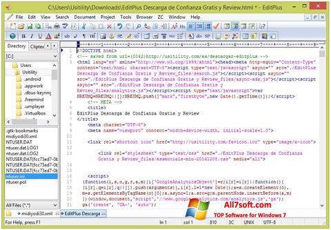 Screenshot EditPlus untuk Windows 7