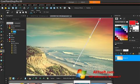 Screenshot PaintShop Pro untuk Windows 7