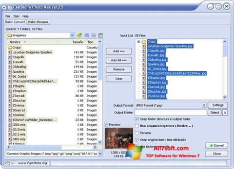 Screenshot FastStone Photo Resizer untuk Windows 7