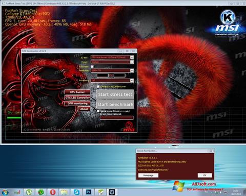 Screenshot MSI Kombustor untuk Windows 7