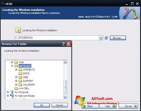 Screenshot nLite untuk Windows 7
