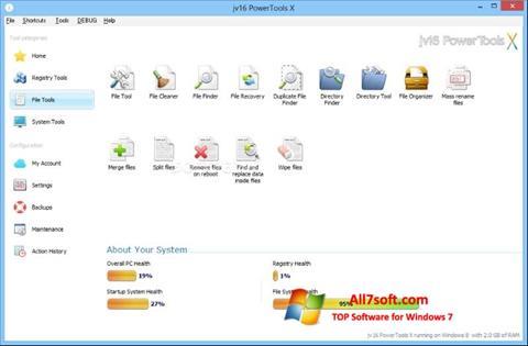 Screenshot jv16 PowerTools untuk Windows 7