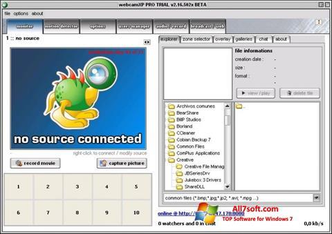 Screenshot webcamXP untuk Windows 7