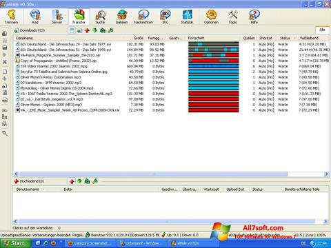 Screenshot eMule untuk Windows 7