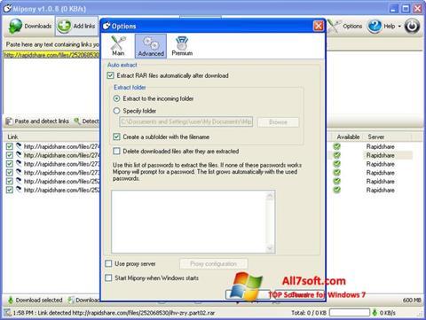 Screenshot Mipony untuk Windows 7