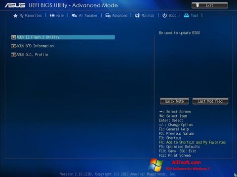 Screenshot ASUS Update untuk Windows 7