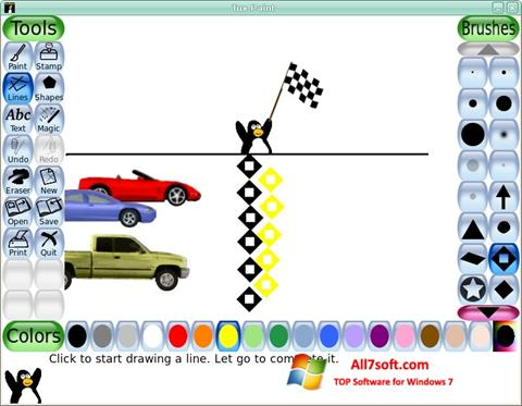 Screenshot Tux Paint untuk Windows 7