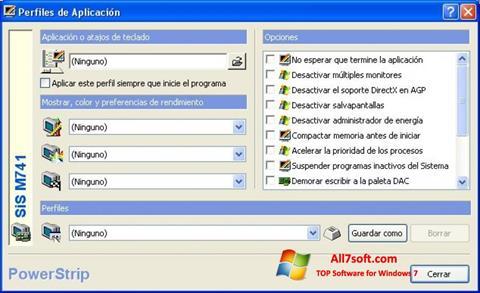 Screenshot PowerStrip untuk Windows 7