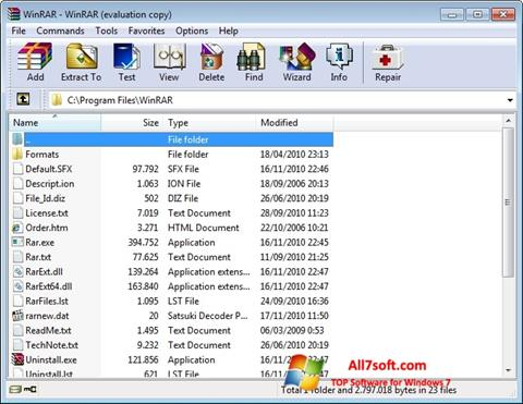 Screenshot WinRAR untuk Windows 7
