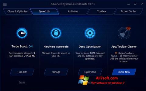 Screenshot Advanced SystemCare Ultimate untuk Windows 7
