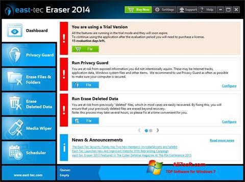 Screenshot East Tec Eraser untuk Windows 7