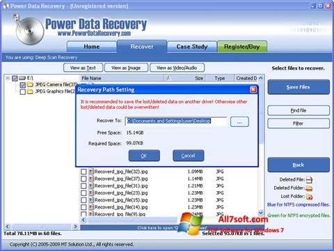 Screenshot Power Data Recovery untuk Windows 7