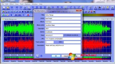 Screenshot GoldWave untuk Windows 7
