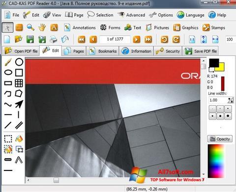 Screenshot PDF Reader untuk Windows 7