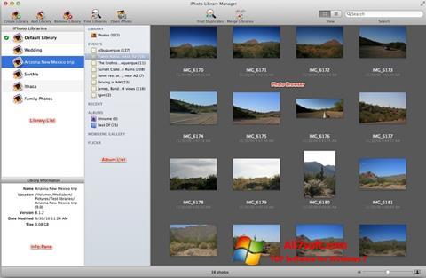 Screenshot iPhoto untuk Windows 7