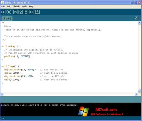 Screenshot Arduino untuk Windows 7