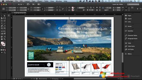 Screenshot Adobe InDesign untuk Windows 7