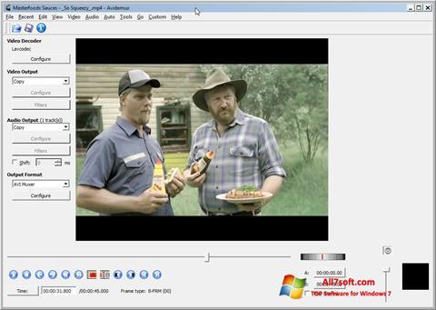 Screenshot Avidemux untuk Windows 7