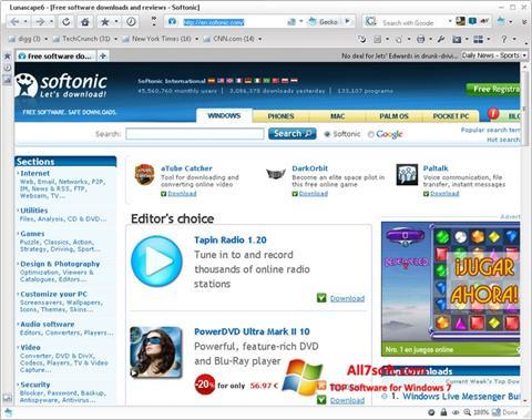 Screenshot Lunascape untuk Windows 7