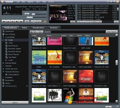 Screenshot Winamp untuk Windows 7