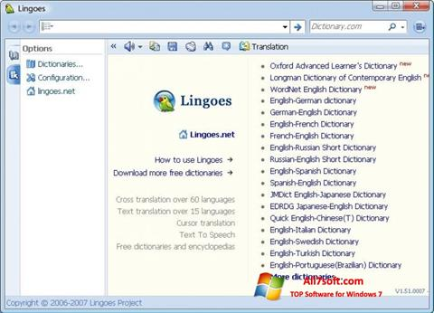 Screenshot Lingoes untuk Windows 7